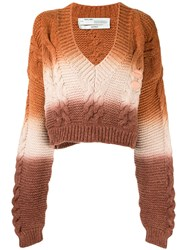 Off White Cable Knit Cropped Jumper 60