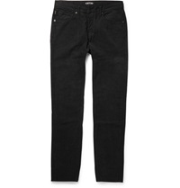 Tom Ford Slim Fit Cotton Corduroy Trousers Black