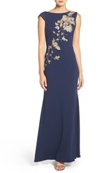 Js Collections Women's Embroidered Crepe Gown