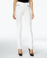 Inc International Concepts Curvy Straight Leg Pants Only At Macy's Washed White