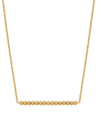 Lord And Taylor 14K Yellow Gold Bar Link Chain Necklace