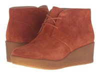 Clarks Athie Terra Rust Vintage Suede Women's Lace Up Boots Brown