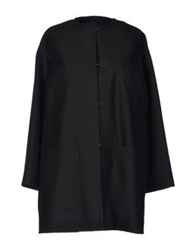 Kenzo Full Length Jackets Black