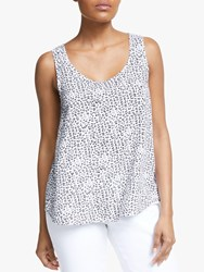 John Lewis Collection Weekend By Mimosa Leopard Print Sleeveless Top White Black