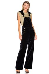 Hilfiger Collection Velvet Marine Jumpsuit Navy