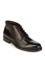 Bruno Magli Forest Leather Ankle Boots Black