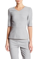Hugo Boss Iopela V Neck Blouse Metallic