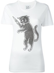 Zoe Karssen Cat Print T Shirt White