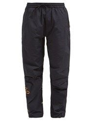 Maharishi Xian Crane Embroidered Twill Track Pants Navy