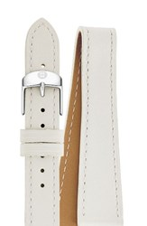 Michele Women's 18Mm Leather Double Wrap Watch Strap White