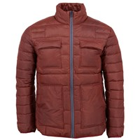Lords Of Harlech Rock Jacket In Rust Red