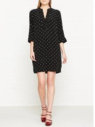 Whistles Molly Polka Dot Dress Black White Black White