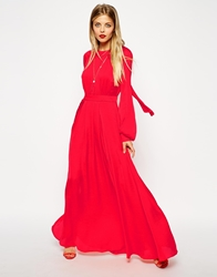 Asos Kaftan Pleated Maxi Dress