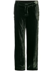 F.R.S For Restless Sleepers Velvet Texture Pyjama Trousers Cupro Viscose S Green