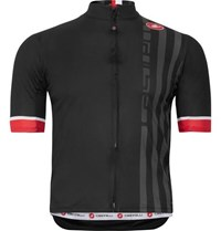 Castelli Podio Doppio Striped Prosecco Gt Mesh Cycling Jersey Black