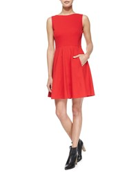 Kate Spade Sleeveless Bow Back Fit And Flare Dress Spicy Red Women's