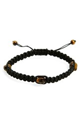 Men's L. Jonas Stone Skull Bracelet Black Tiger Eye