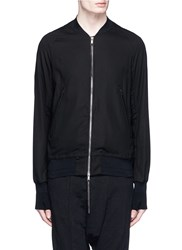 The Viridi Anne Cotton Bomber Jacket Black