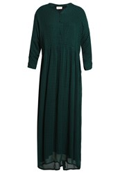 American Vintage Peonyland Dress Eucalyptus Navy Green