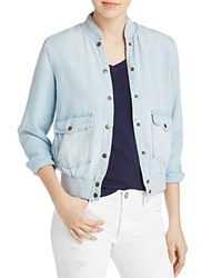 Joe's Jeans Briggite Chambray Bomber Jacket Denim