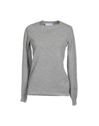 Lo Not Equal Long Sleeve Sweaters Slate Blue