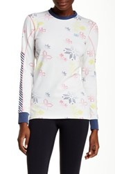 Helly Hansen Active Flow Graphic Long Sleeve Tee White