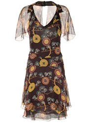 Chanel Vintage Sleeveless One Piece Dress Brown