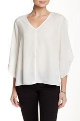 Valette 3 4 Length Tulip Sleeve Blouse White