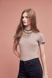 Anthropologie Sidecar Mockneck Tee Dark Grey