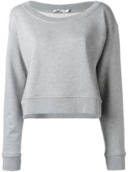 Alexander Wang T By Cropped Sweatshirt Grey