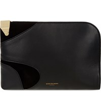 Wooyoungmi Leather Document Case Black Gold