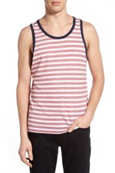 Howe Striped Tank Red