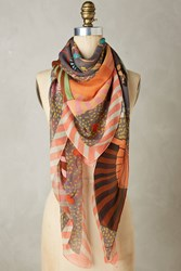 Anthropologie Great Gatsby Silk Scarf Grey