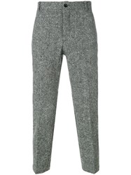 Thom Browne Engineered Stripe Patch Pocket Unconstructed Chino Trouser Grey