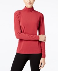 Catherine Malandrino Mari Ruched Mock Neck Top Only At Macy's Borscht Red