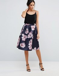 Amy Lynn A Line Skirt In Floral Print Floral Multi