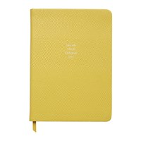Organise Us 'Decide Ditch Delegate Do ' Medium Leather Notebook Sunshine Yellow