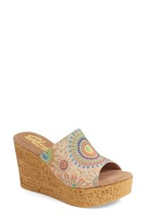 Women's Sbicca 'Starboard Vintage Collection' Psychedelic Print Wedge 3 1 2' Heel