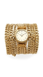 Sara Designs Small All Chain Watch Gold