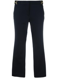 Michael Michael Kors Bell Bottom Cropped Trousers Blue