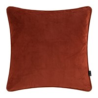 Amara Velvet Cushion Burnt Sienna Orange