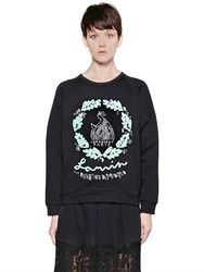 Lanvin Embellished Heavy Cotton Sweatshirt