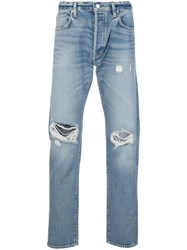 Simon Miller Ripped Mid Rise Tapered Jeans 60
