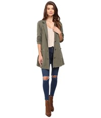 Free People Effortless Knit Jacket Olive Women's Coat
