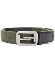 Tod's Double T Belt Green
