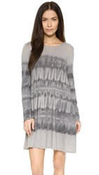 Raquel Allegra Long Sleeve Bell Dress Grey Tie Dye