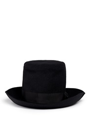 Attachment Wool Cashmere Felt Top Hat Black