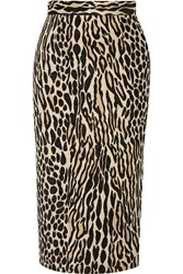 By Malene Birger Algras Leopard Jacquard Pencil Skirt Animal Print