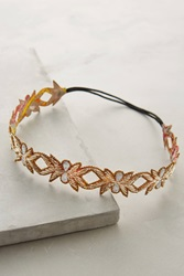 Anthropologie Oak Leaf Headband Gold