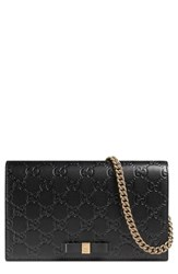 Gucci Women's Signature Leather Wallet On A Chain